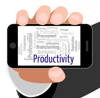 Free Stock Photo of Productivity Word Means Effectivity Efficient And Text