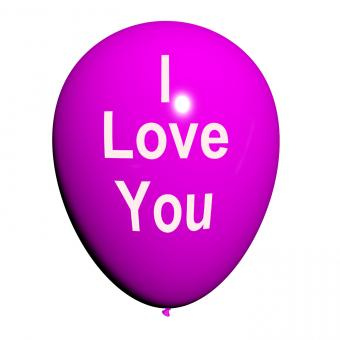 Free Stock Photo of I Love You Balloon Represents Lovers and Couples