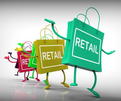 Free Stock Photo of Retail Bags Show Commercial Sales and Commerce