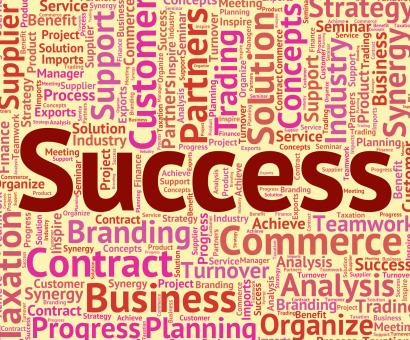 Free Stock Photo of Success Word Represents Winner Resolution And Wordclouds
