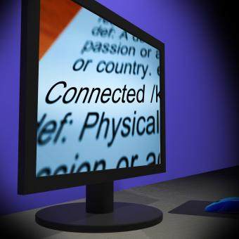 Free Stock Photo of Connected On Monitor Showing Communities
