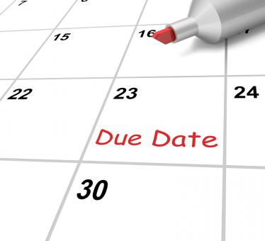 Free Stock Photo of Due Date Calendar Means Submission Time Frame
