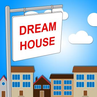 Free Stock Photo of Dream House Indicates Displaying Desired And Ultimate