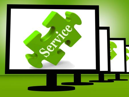 Free Stock Photo of Service On Monitors Showing Community Service