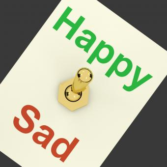 Free Stock Photo of Happy Sad Switch Showing That Happiness Is Important
