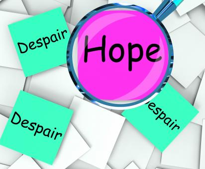 Free Stock Photo of Hope Despair Post-It Papers Show Wishing Or Desperate