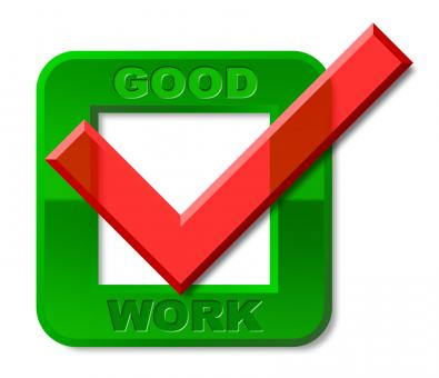 Free Stock Photo of Good Work Tick Represents First Rate And Awesome
