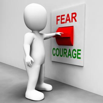 Free Stock Photo of Courage Fear Switch Shows Afraid Or Bold