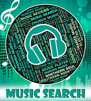 Free Stock Photo of Music Search Represents Sound Track And Audio