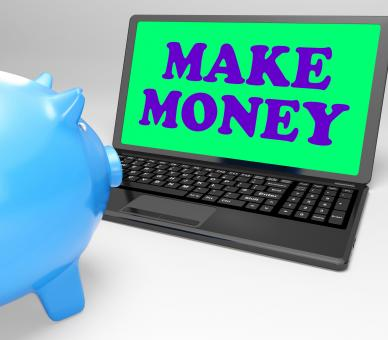 Free Stock Photo of Make Money Laptop Means Accumulating Wealth And Prosperity