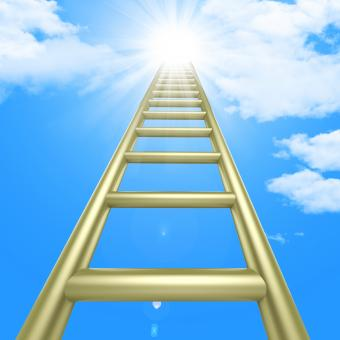 Free Stock Photo of Up Ladders Indicates Raise Improvement And Improve