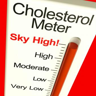 Free Stock Photo of Cholesterol Meter High Showing Unhealthy Fatty Diet
