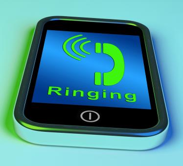 Free Stock Photo of Ringing Icon On A Mobile Phone Showing Smartphone Call