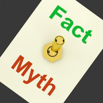 Free Stock Photo of Fact Myth Lever Shows Correct Honest Answers