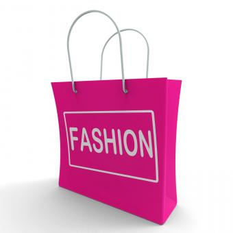 Free Stock Photo of Fashion Shopping Bag Shows Fashionable Trendy And Stylish