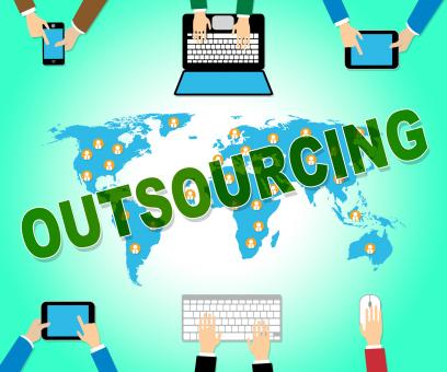 Free Stock Photo of Outsourcing Online Represents Web Site And Contractor
