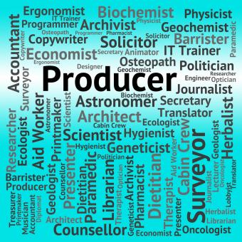 Free Stock Photo of Producer Job Shows Employment Occupations And Production