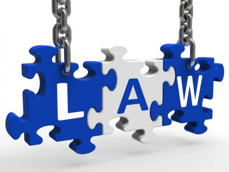 Free Stock Photo of Law Puzzle Means Legally Lawful Statute Or Judicial