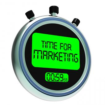 Free Stock Photo of Time For Marketing Message Means Advertising And Sales