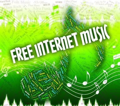 Free Stock Photo of Free Internet Music Means Sound Tracks And Complimentary