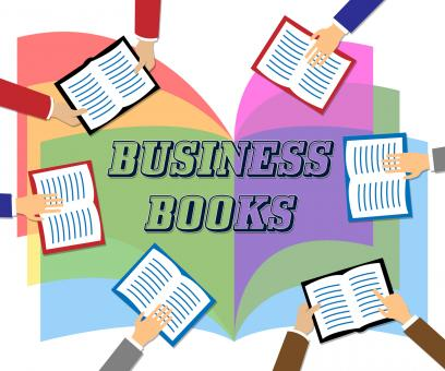 Free Stock Photo of Business Books Means Commerce Education And Information