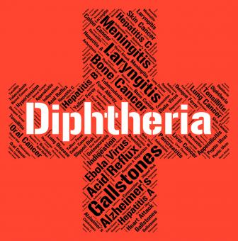 Free Stock Photo of Diphtheria Word Means Corynebacterium Diphtheriae And Affliction