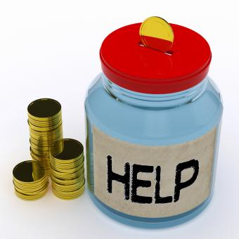 Free Stock Photo of Help Jar Means Financial Aid Or Assistance