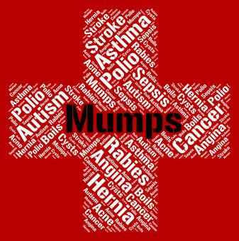 Free Stock Photo of Mumps Word Means Poor Health And Ailments