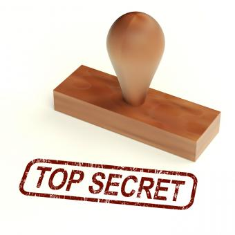 Free Stock Photo of Top Secret Rubber Stamp Shows Classified Correspondence