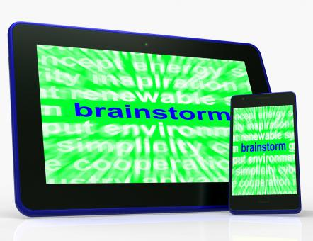 Free Stock Photo of Brainstorm Tablet Means Thinking Creatively Problem Solving And Ideas