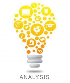 Free Stock Photo of Analysis Lightbulb Means Data Analytics And Analyze
