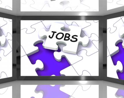 Free Stock Photo of Jobs On Screen Showing Job Recruitment