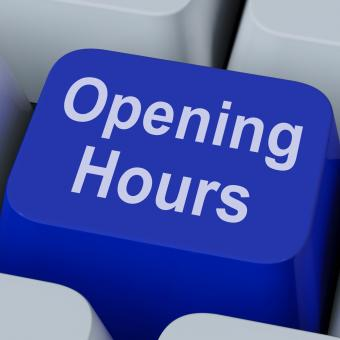 Free Stock Photo of Opening Hours Key Shows Retail Business Open