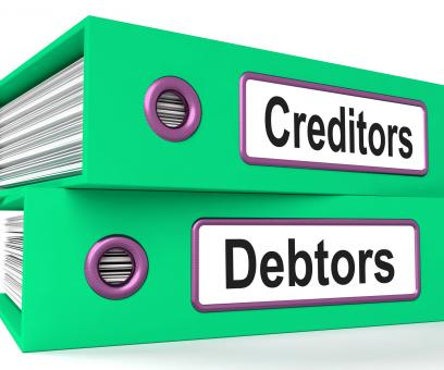 Free Stock Photo of Creditors Debtors Files Shows Lending And Borrowing