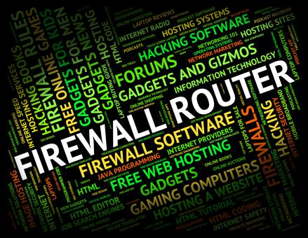 Free Stock Photo of Firewall Router Represents Word Protect And Routing