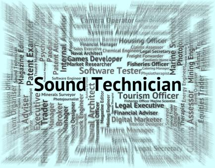 Free Stock Photo of Sound Technician Represents Skilled Worker And Artisan