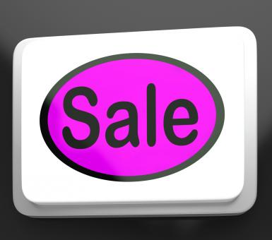 Free Stock Photo of Sales Button Shows Promotions And Deals