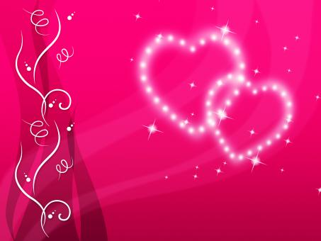 Free Stock Photo of Pink Hearts Background Means Love Family And Floral