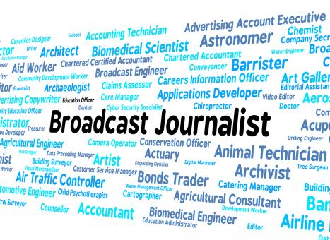 Free Stock Photo of Broadcast Journalist Represents Lobby Correspondent And Broadcas