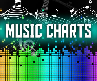 Free Stock Photo of Chart Music Represents Sound Track And Charts