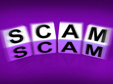 Free Stock Photo of Scam Displays Fraud Scheme to Rip-off or Deceive