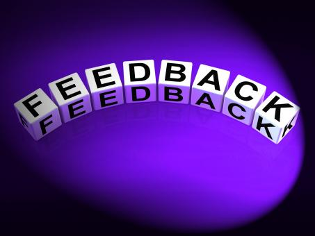 Free Stock Photo of Feedback Dice Means Comment Evaluate and Review