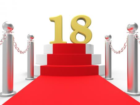 Free Stock Photo of Golden Eighteen On Red Carpet Means Celebrity Eighteenth Birthday Part