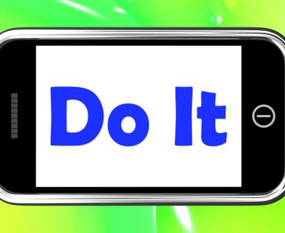 Free Stock Photo of Do It On Phone Shows Act Immediately