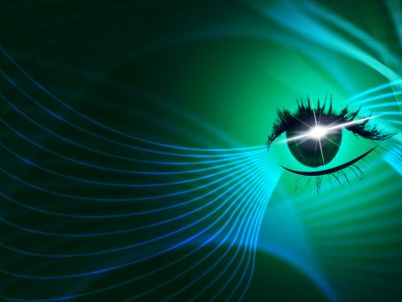 Free Stock Photo of Eye Tech Represents Blazing Look And Iris