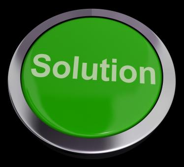 Free Stock Photo of Solution Computer Button In Green Showing Success And Strategy