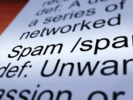 Free Stock Photo of Spam Definition Closeup Showing Unwanted Email