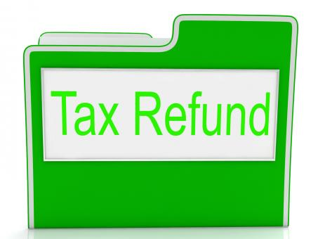 Free Stock Photo of Tax Refund Shows Taxes Paid And Business