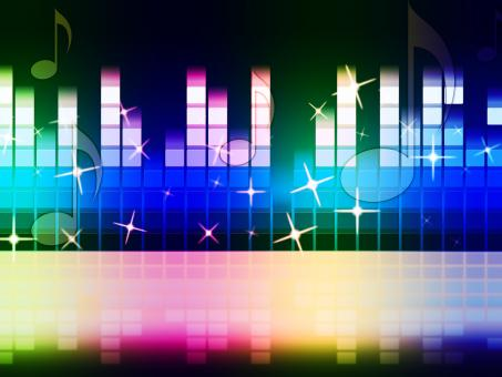 Free Stock Photo of Rainbow Music Background Means Instruments Musical Or Classical