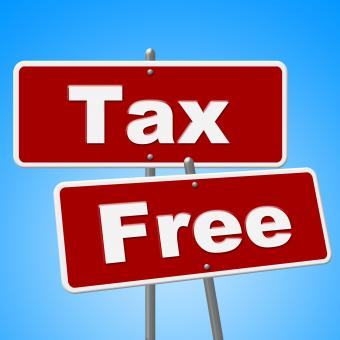 Free Stock Photo of Tax Free Signs Represents With Our Compliments And Duties